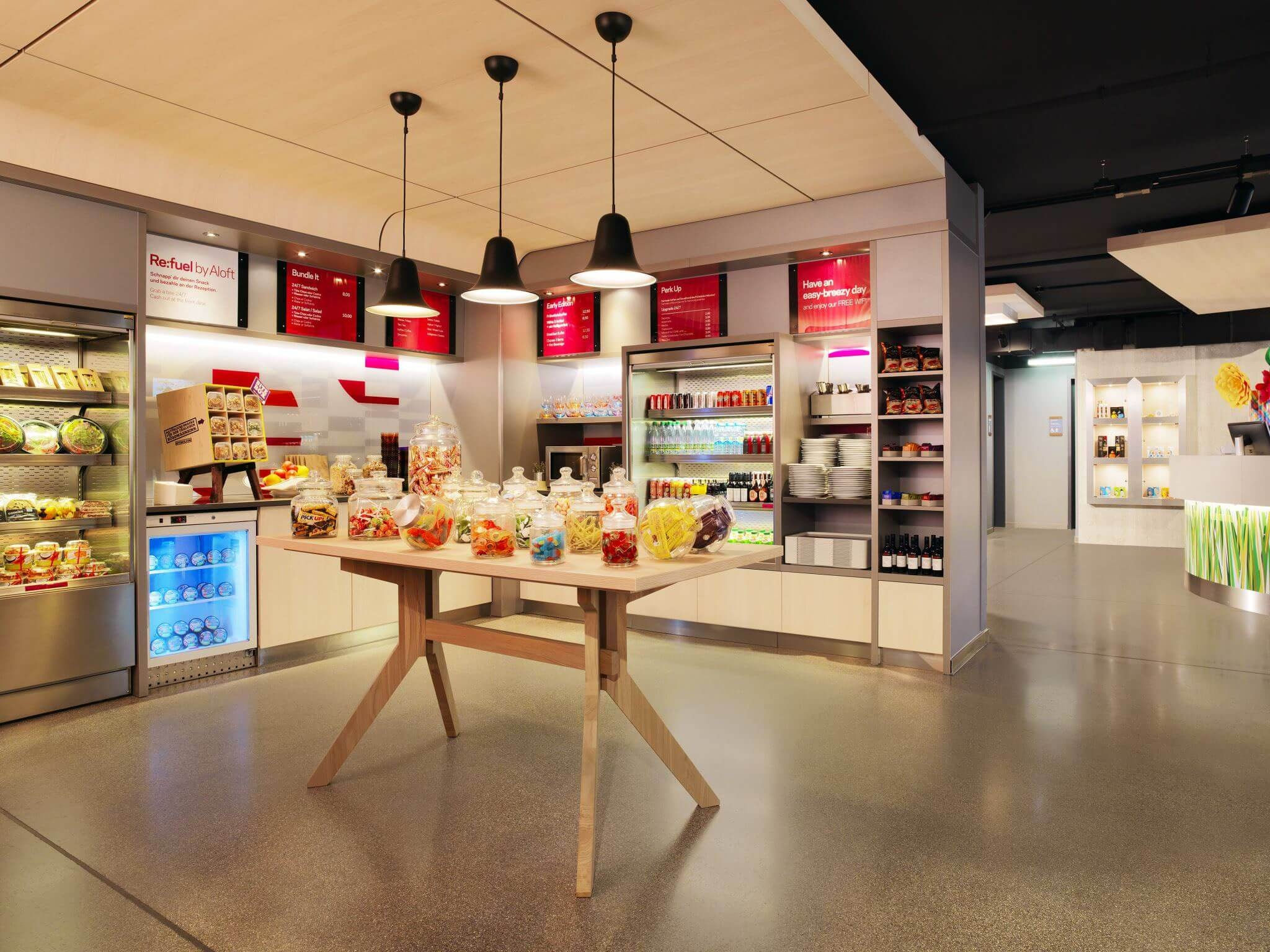 Aloft Stuttgart re:fuel grab & go pantry